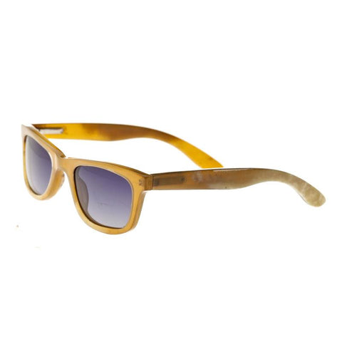 Bertha Zoe Buffalo-Horn Polarized Sunglasses - Vanilla/Black BRSBR008ZC