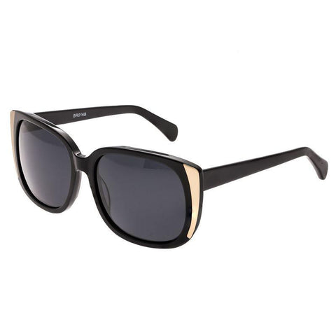 Bertha Natalia Polarized Sunglasses - Black/Black BRSBR016B