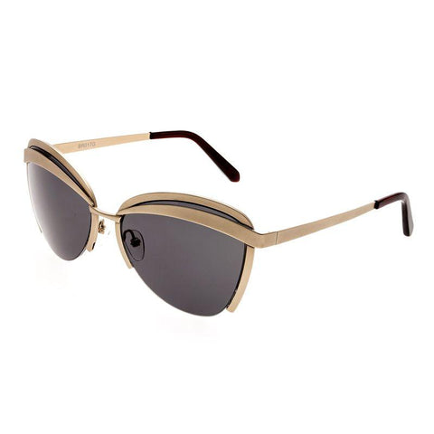 Bertha Aubree Polarized Sunglasses - Gold/Black BRSBR017G