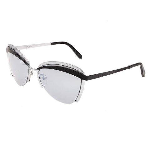 Bertha Aubree Polarized Sunglasses - Silver/Black BRSBR017S