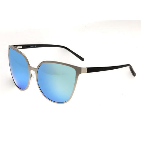 Bertha Ophelia Polarized Sunglasses - Silver/Blue-Green BRSBR019S