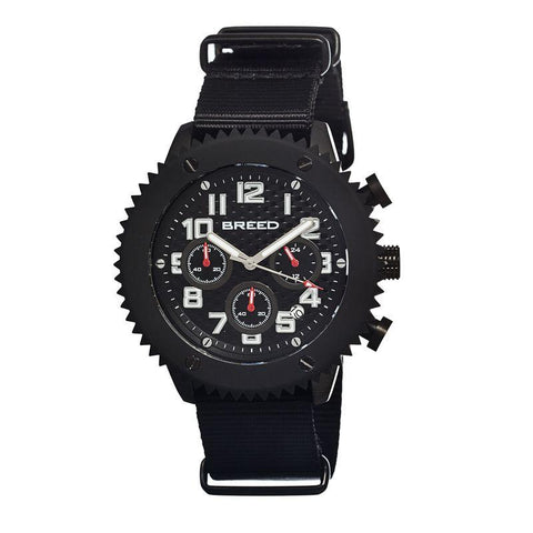 Breed Decker Nylon-Band Chronograph Men's Watch-Black BRD1501