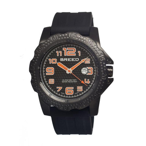 Breed Deep Swiss Quartz Men's Pro-Diver Watch-Black BRD1904