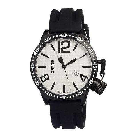 Breed Lucan Swiss Quartz Men's Watch w/ Date-White/Black BRD3005