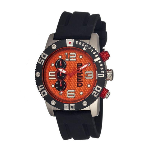 Breed Grand Prix Chronograph Men's Watch-Silver/Orange BRD3904