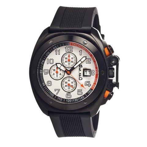 Breed Sander Chronograph Men's Watch w/ Date-Black/Silver BRD4603