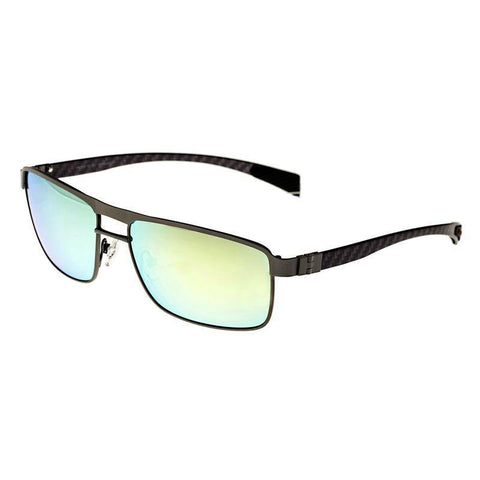 Breed Taurus Titanium and Carbon Fiber Polarized Sunglasses - Silver/Gold BSG005SR
