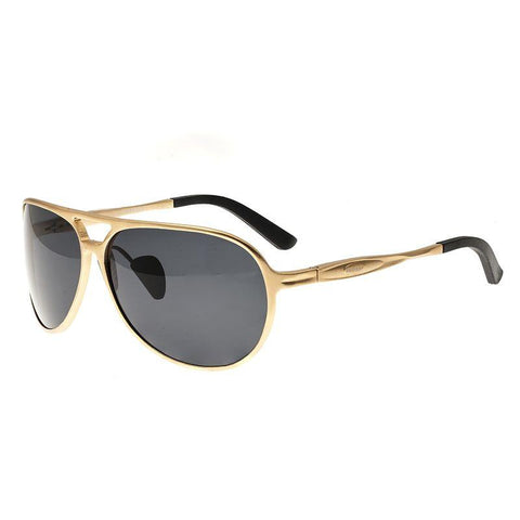 Breed Earhart Aluminium Polarized Sunglasses - Gold/Black BSG011GD