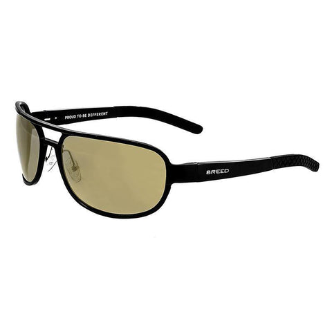 Breed Xander Aluminium Polarized Sunglasses - Black/Gold BSG014BK