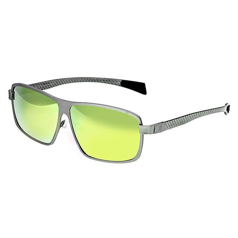 Breed Finlay Titanium Polarized Sunglasses - Silver/Yellow BSG033SR