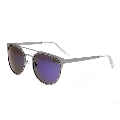 Breed Mensa Titanium Polarized Sunglasses - Silver/Blue BSG037SL