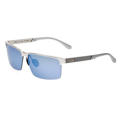 Breed Xenon Titanium Polarized Sunglasses - Silver/Blue BSG040SL