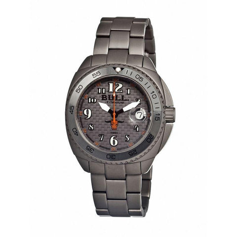Bull Titanium Matador Men's Swiss Bracelet Watch - Grey BULMD003