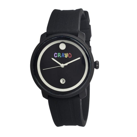 Crayo Fresh Unisex Watch w/Date - Black CRACR0301