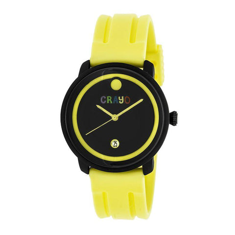 Crayo Fresh Unisex Watch w/Date - Yellow CRACR0306