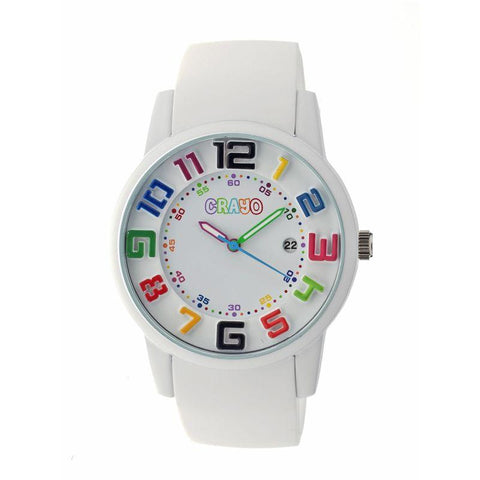 Crayo Festival Unisex Watch w/ Date - White CRACR2001