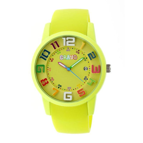 Crayo Festival Unisex Watch w/ Date - Yellow CRACR2002