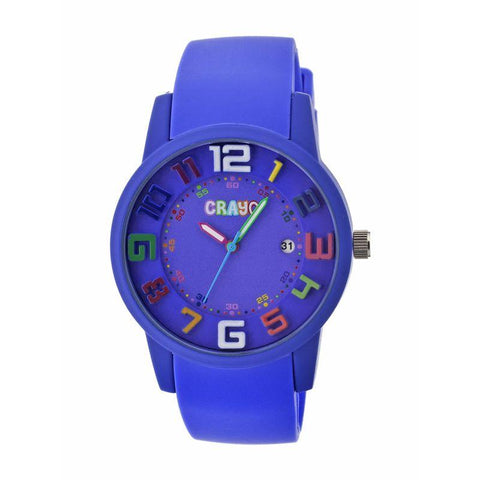 Crayo Festival Unisex Watch w/ Date - Purple CRACR2004