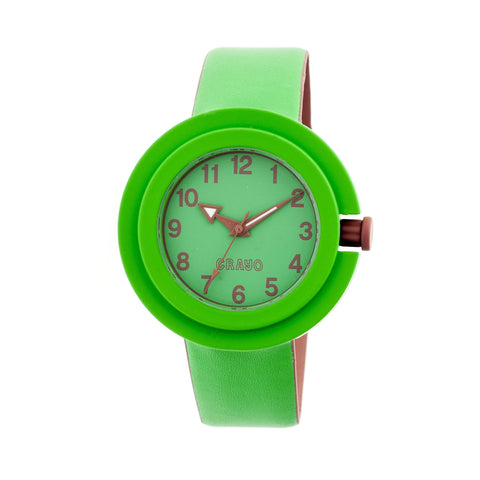 Crayo Equinox Unisex Watch - Green/Brown CRACR2803