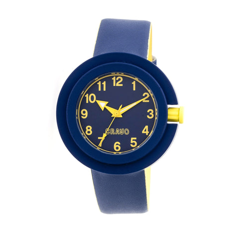 Crayo Equinox Unisex Watch - Navy/Yellow CRACR2806