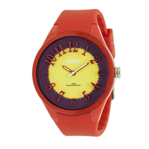 Crayo Burst Ladies Watch - Red/Yellow CRACR3201