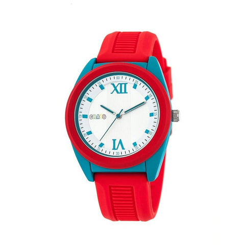 Crayo Praise Quartz Watch - Red/Cerulean CRACR3603