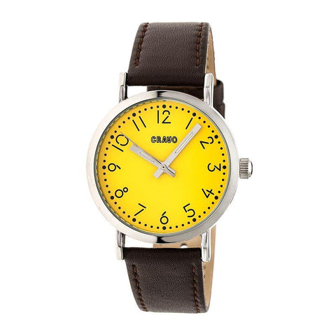 Crayo Pride Leather-BandWatch - Yellow CRACR3803