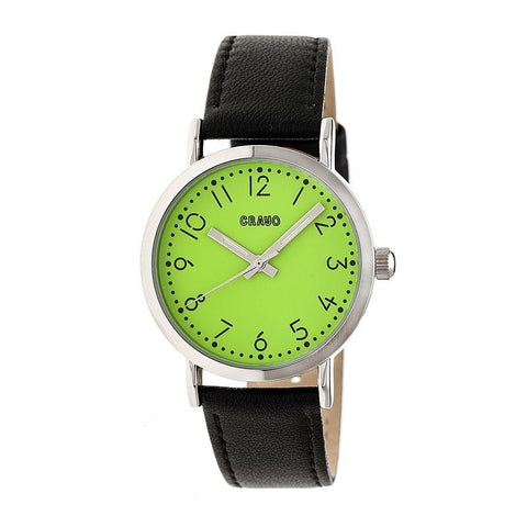 Crayo Pride Leather-BandWatch - Lime CRACR3804