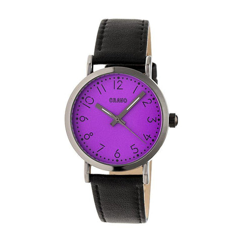 Crayo Pride Leather-BandWatch - Purple CRACR3806