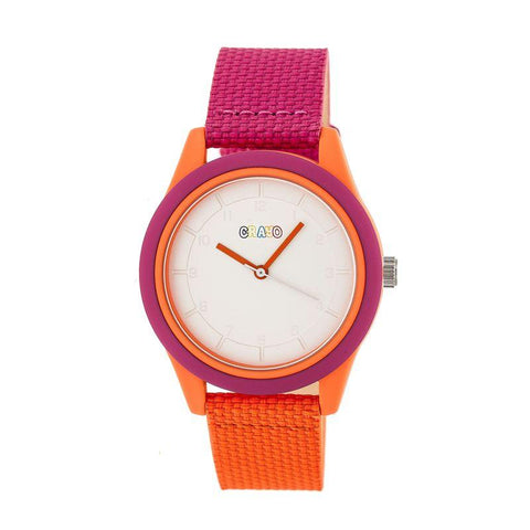 Crayo Pleasant Quartz Watch - Hot Pink/Orange CRACR3902
