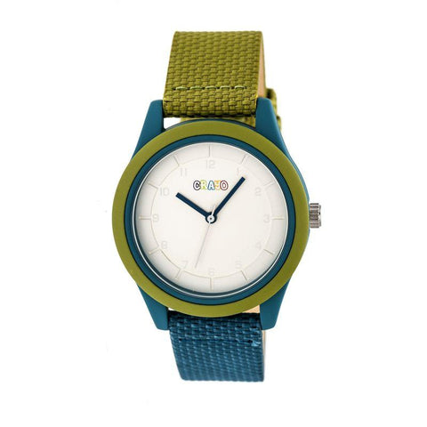Crayo Pleasant Quartz Watch - Olive/Teal CRACR3903