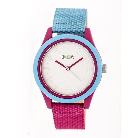 Crayo Pleasant Quartz Watch - Powder Blue/Fuchsia CRACR3905