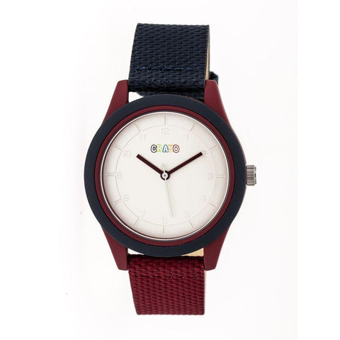 Crayo Pleasant Quartz Watch - Navy/Maroon CRACR3906