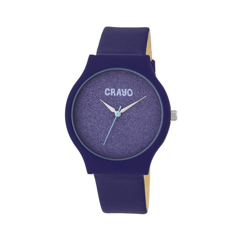 Crayo Glitter Strap Watch - Purple CRACR4507