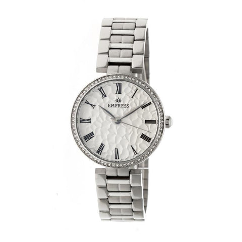 Empress Catherine Automatic Hammered Dial Bracelet Watch - Silver EMPEM1901