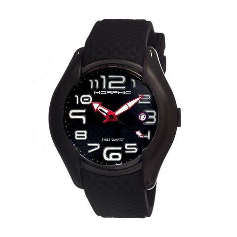 Morphic M3 Series Swiss Quartz Men's Watch w/ Date - Black MPH0303