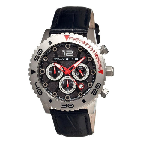 Morphic M33 Series Chronograph Men's Watch w/ Date - Silver/Black MPH3302