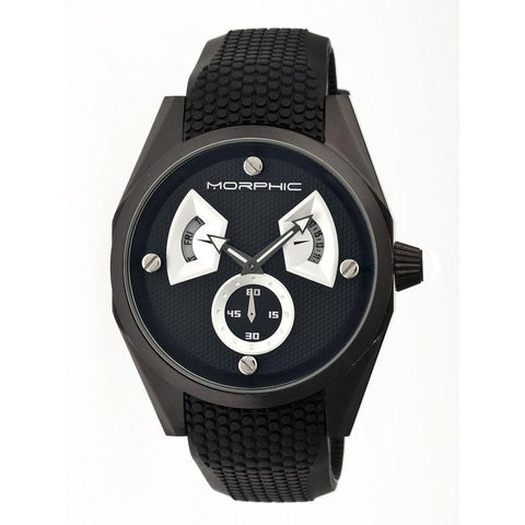 Morphic M34 Series Men's Watch w/ Day/Date - Black/Silver MPH3404