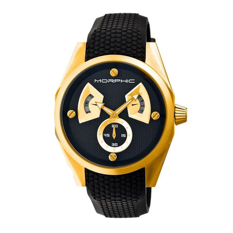 Morphic M34 Series Men's Watch w/ Day/Date - Gold/Black MPH3406