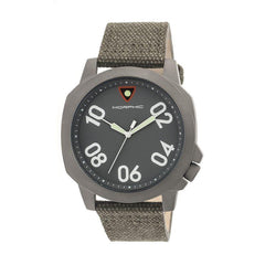Morphic M41 Series Canvas-Band Men's Watch - Olive/Grey
