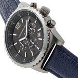Morphic M67 Series Chronograph Leather-Band Watch w/Date - Gunmetal/Blue MPH6706