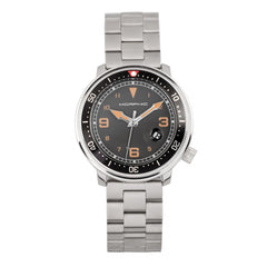 Morphic M74 Series Bracelet Watch w/Magnified Date Display - Gunmetal/Black & Silver/Brown