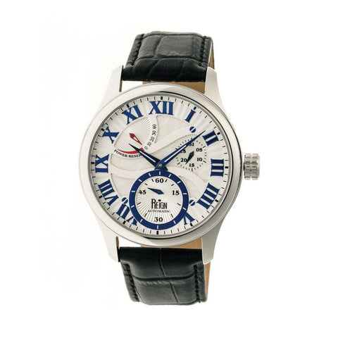 Reign Bhutan Leather-Band Automatic Watch - Silver REIRN1601