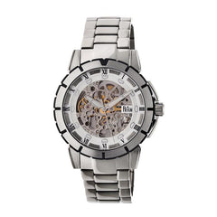 Reign Philippe Automatic Skeleton Bracelet Watch - Silver/White