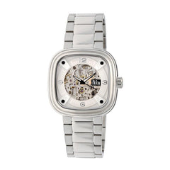 Reign Nero Skeleton Dial Bracelet Watch - Silver