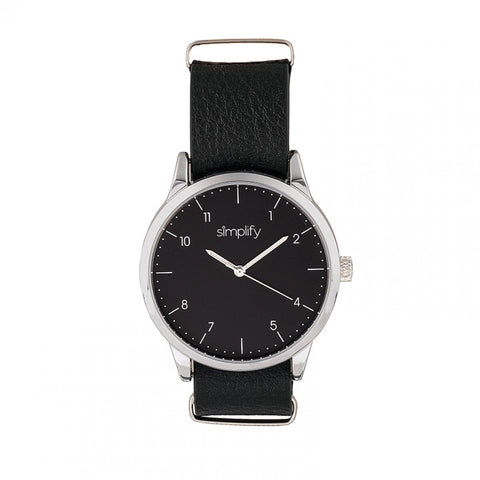 Simplify The 5600 Leather-Band Watch - Black SIM5602