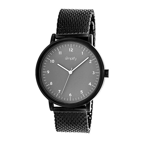 Simplify The 3200 Mesh-Bracelet Watch - Black/Grey SIM3206