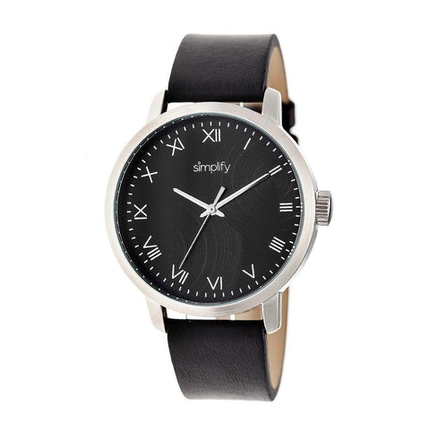 Simplify The 4200 Leather-Band Watch - Black SIM4202