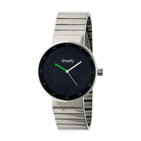 Simplify The 4600 Bracelet Watch - Silver/Olive SIM4601