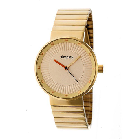 Simplify The 4600 Bracelet Watch - Gold/Orange SIM4603